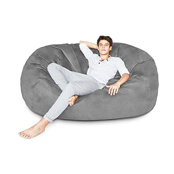 Lumaland-Luxury-Bean-Bag-Chair-with-Microsuede-Cover-in-Different-Sizes-and-Colours-Mashine-Washable-Big-Size-Sofa-and-Giant-Lounger-Furniture-for-Kids-Teens-and-Adults
