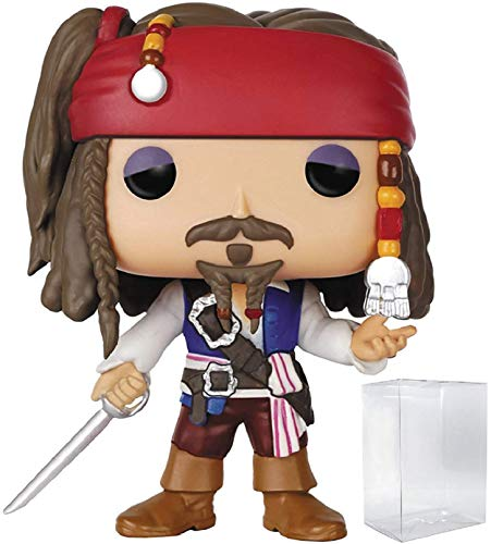 Funko Pop! Disney: Pirates of The Caribbean - Captain Jack Sparrow Vinyl Figure (Bundled with Pop Box Protector Case)