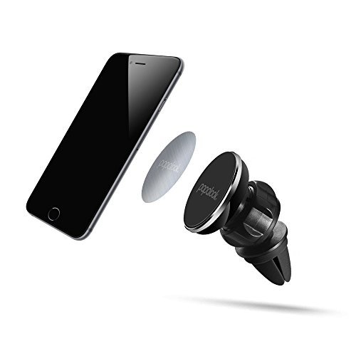 Car Phone Mount,Universal Magnetic Air Vent Car Vehicle Mounts PAPALOOK PH1  360° Rotatable Phone GPS Holder for Smartphones and Mini Tablets - Black