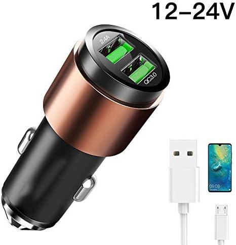 車の充電器多機能高速充電車のシガーライター、2つのUSB変換プラグユニバーサルフラッシュ充電するための一つの (Color : Android data cable)