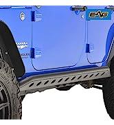 EAG Tubular Side Armor Rocker Guard Rock Sliders Fit for 07-18 Wrangler JK 4 Door