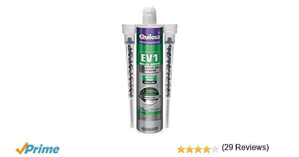 Quilosa Anclaje Taco Químico EV1 Poliester sin estireno, 300 ml