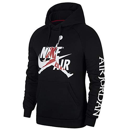 Nike M J Jumpman Classics Fleece Pull Over Mens BV6010-010 Size 2XL Black/White