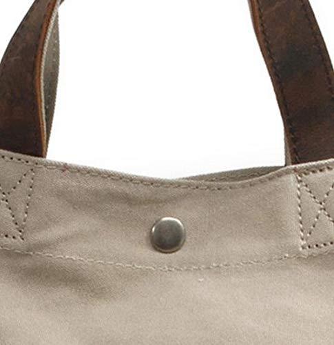À Shopping Fourre Sacs Sac Main Commuter Bandoulière tout blanc Canvas BwWFAP