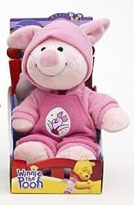 Winnie the Pooh 900586   -Peluche de Piglet en pijama (25 cm) [Importado de Alemania] (Joy Toy)