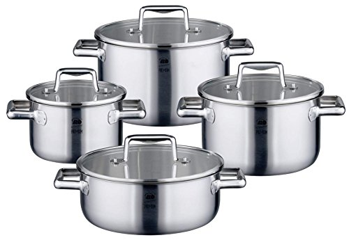 ELO Premium Multilayer Stainless Steel Kitchen Induction Cookware Pots and Pans Set with Multilayer Heating System, Easy-Pour Rim, Integrated Measuring...