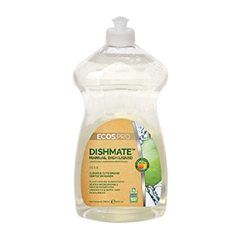 ECOS PRO Dishmate Manual Dishwashing Liquid, Pear (6/Case) - BMC- EFPPL9720-6