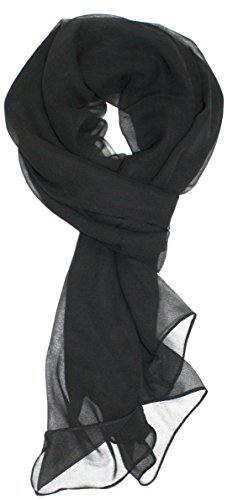 Ted and Jack - Solid Silk Lightweight Accent Scarf (Black)
