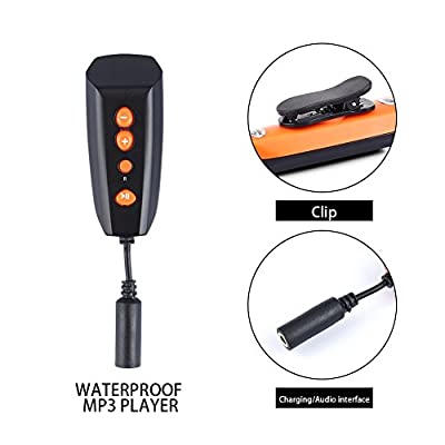 New Design Swimming MP3 Player Underwater Waterproof to 3 Meters - 4GB MP3 Player Waterproof IPX8 Sport MP3 Music Player Great for Swimming/Running/Training/Gym/Outdoor Sport