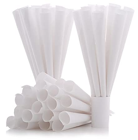 Cotton Candy Express Cones- 100 Pack, White | Cotton Candy Cones | For Commercial or Household Use | Disposable Paper Cones for Homemade Cotton Candy 6005