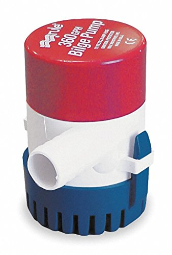 Rule 24 Submersible Bilge Pump, 360 GPH, 12 Volt (360 Gph Pump)