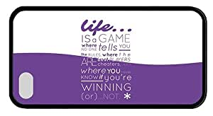 Hipster iPhone 4 best covers life is a game pc Black for Apple iPhone 4/4S