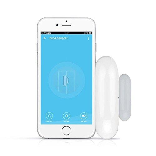 WiFi Door and Window Sensor, Smart Security Alarm Doorbell Magnet Contact Sensor with App for Home Office Business Burglar Alert, No Hub Required, Compatible with Alexa Google Home IFTTT