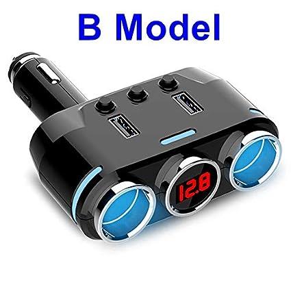 Amazon.com: Enchufe divisor de encendedor de coche 12 V o 24 ...