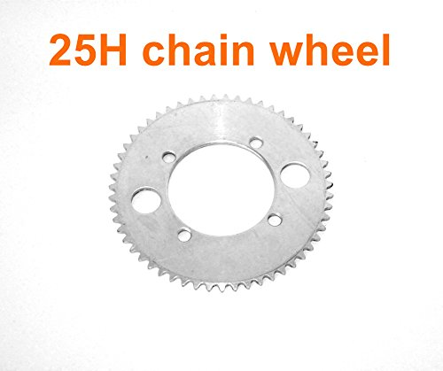 L-faster Electric Motorcycle Replacement Sprocket for 25H Chain Electric Scooter Dirt Bike Spare Chain Wheel for 50CC 2 Stroke Chainwheel (65T) by L-faster