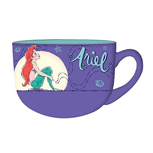 Silver Buffalo DP114633 Disney's Little Mermaid Princess Ariel Moonlight Ceramic Soup Mug, 24 oz, Multicolor (Mug Ceramic Soup)