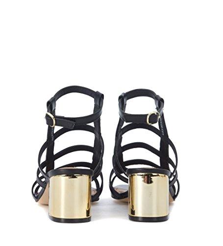 Sandalia gladiador Steve Madden Ilari en piel negra Negro