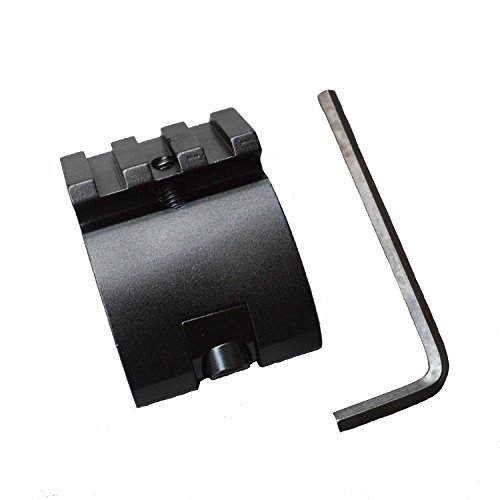LVLING Offset Low Profile Picatinny Rail Mount 45 Degree 20mm Side Black For Sight, Scope, Flashlights by LVLing