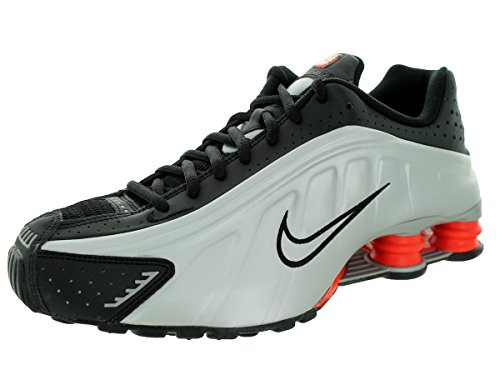 Nike Men's Shox R4 Black/Mtllc Slvr/Mx Orng/Mtllc S Running Shoe 8.5 Men US