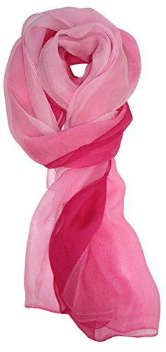 (Ted and Jack - Silk Ombre Lightweight Accent Scarf (Pink Ombre))