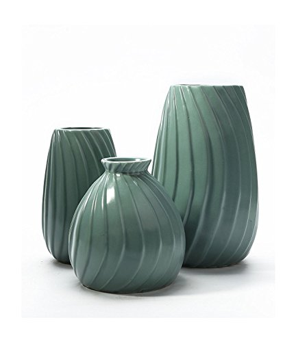 Tengfeng Vase Set of 3 Farmhouse Table Vintage vase Ceramic Flower Vase Decorative Set for 3 ()