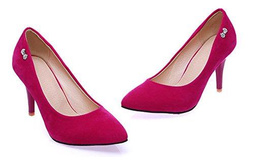 Enfiler Fermeture Aisun Basse À Escarpins Classique Strass Femme Rouge F6wwIqUY