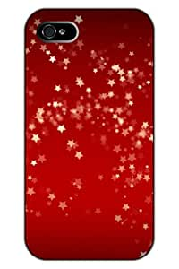 SPRAWL Original New Print Hard Skin Case Cover Shell for mobilephone Apple Iphone 5 5S, Interesting Fashion Design with Stars shine - Red shading
