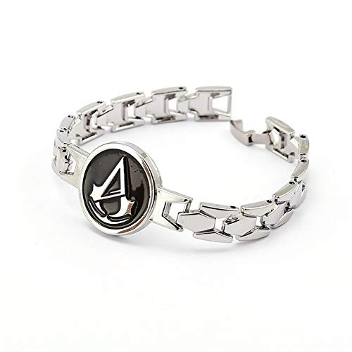 Mct12 - MS Jewelry Assassins Creed Bracelet Connor Cross Chain Link Charm Bracelets Men Women Bangle Game Cosplay
