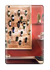 Natalie Sanders Fashion Protective Red Eclectic Kitchen With Wall-mounted Wine Rack Case Cover For Ipad Mini/mini 2