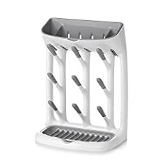 Space-saving design Vertical shape frees up valuable counter space Holds small parts Removable top tray holds valves, pacifiers and more Angled pegs Pegs are designed to help bottles and cups dry thoroughly Raised ridges Removable base tray f...