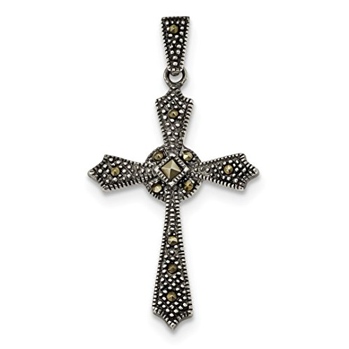 ICE CARATS 925 Sterling Silver Marcasite Iona Cross Religious Pendant Charm Necklace Passion Fine Jewelry Ideal Gifts For Women Gift Set From ()