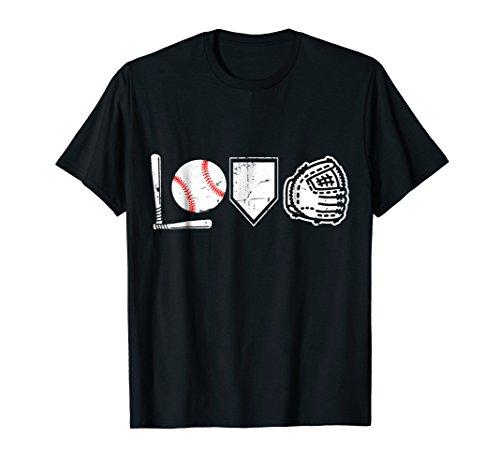(I Love Baseball T-Shirt Baseball Heart )