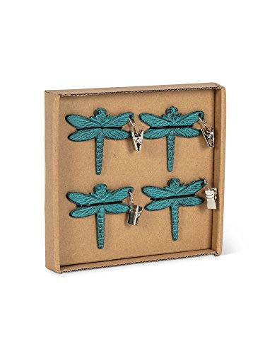 (Abbott Collection 27-Iron AGE/378 Dragonfly Tablecloth Weights)