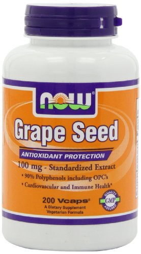 NOW Foods Grape Seed Anti 100mg, 200 Vcaps