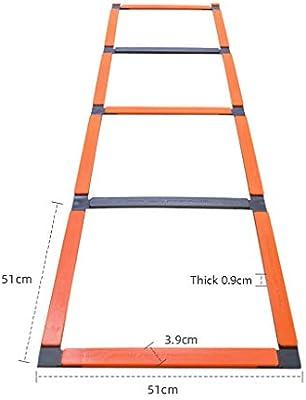 Escalera de agilidad velocidad escalera de formación de fútbol de escalera 11 Peldaño velocidad, Escalera for el entrenamiento de fútbol, Escalera de cuerda de saltar, la velocidad de paso de escale: Amazon.es: