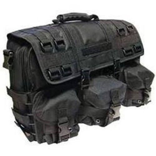 Black MOLLE Tactical Military Laptop Computer Field Briefcase Shoulder Bag Case Imported