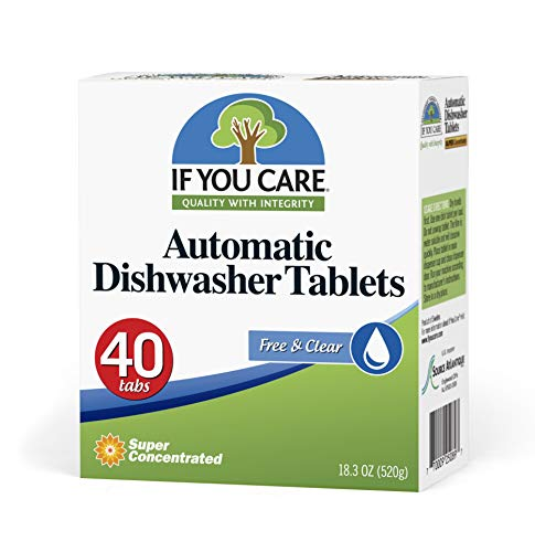 IF YOU CARE Automatic Dishwasher Tablets, 40 Count (Dishwasher Tabs Natural)