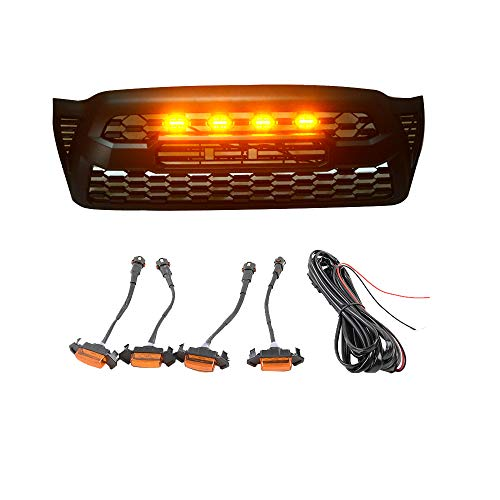 ZGAUTO ZGAUTO Tacoma Grille LED Amber Lights Fit for Tacoma Grille 2005-2011 (Yellow) price tips cheap