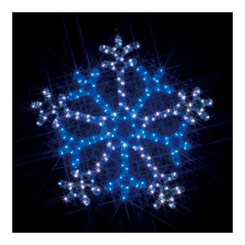 ジェフコム LEDルミネーション 連結タイプ LEDモチーフ 雪の結晶 2色点滅 白×青 SJ-C103WB-N B00GAV2SEY 雪の結晶 2色点滅