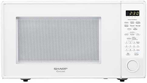 Sharp Countertop Microwave Oven ZR559YW 1.8 cu. ft. 1100W White with Sensor Cooking