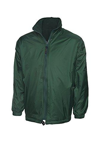 al aire Premium de abrigo ocio oscuro bolsillos forro chaqueta trabajo libre polar verde Reversible impermeable de wzq4B8cz