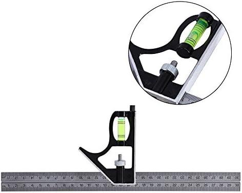 Acogedor スクエア アングルルーラー コンビネーション定規 多機能測定ツール 調節可能 300 mm