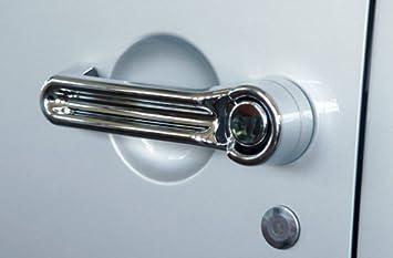 Embellecedor de - Tirador de puerta M. plast. cromado, 2 puertas, Wrangler, JK: Amazon.es: Coche y moto