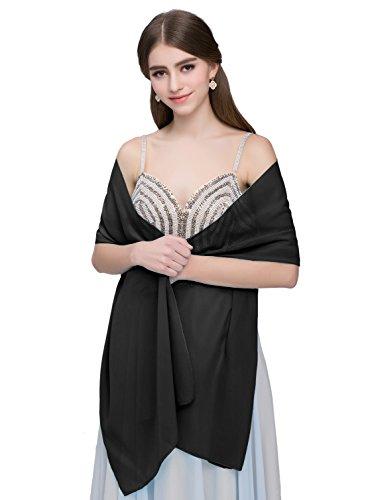 formal black wrap dress - 5