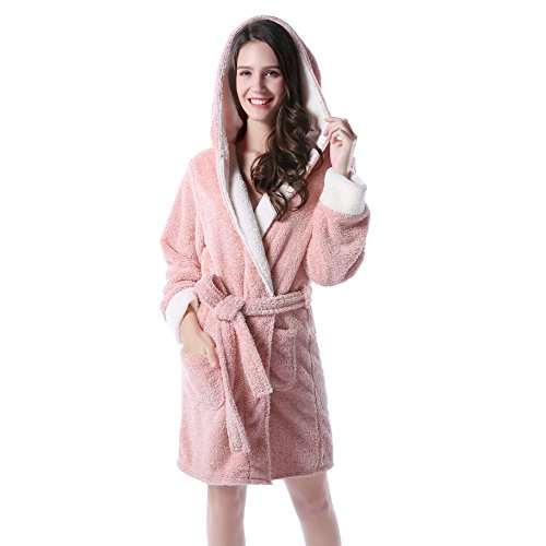 Richie House Women's Soft and Warm Bathrobe Robe with Ears RHW2498-B-S/M