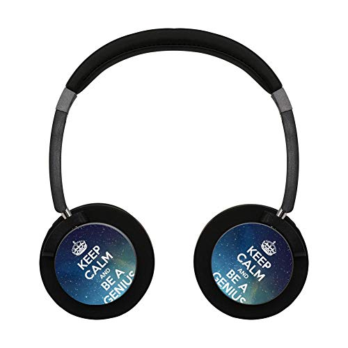 (Wireless Bluetooth Headphones Keep Calm and Be A Genius Headset Earbuds Earphone for Noise-canceling Bluetooth Earpiece)
