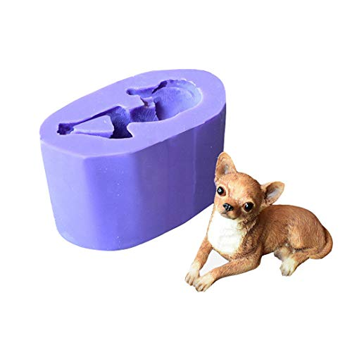 - Runloo 3D Dog Molds Silicone Fondant Mousse Cake Chocolate Mold Puppy Dog Soap Mold Candle Mould