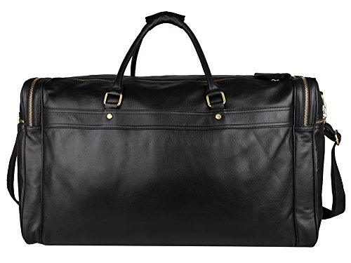 Genda 2Archer Genuine Leather Large Duffel Weekender Overnight Travel Tote Bag by Genda 2Archer (Image #1)