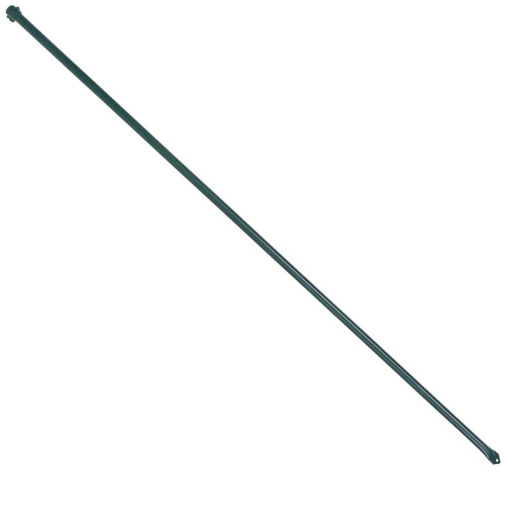 Festnight Garden Metal Posts Outdoor Fencing Stake 10 pcs 1.5 m Green