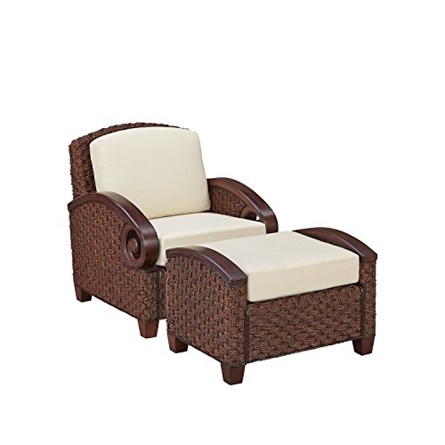 Home Styles 5406-101 Cabana Banana III Chair and Ottoman, Cinnamon Finish (Cabana Banana Iii Love Seat By Home Styles)